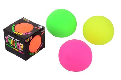 Jumbo Neon bal in open doos 4 assorti 10x10x9cm