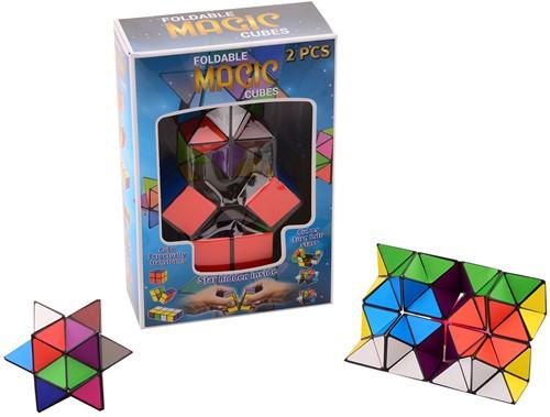 Vouwbare magische kubus 2 stuks in doos