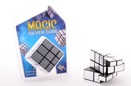 Magische kubus in blister, Zilver