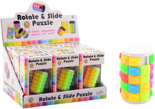 Rotate & Slide puzzle 12 stuks in display