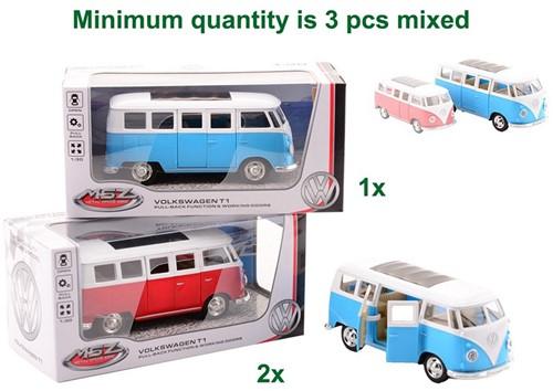 Super Cars 1:30 Volkswagen Bus T1 2 assorti