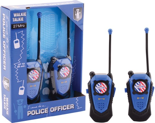 Politie walkie talkie bereik +/- 80 mtr.