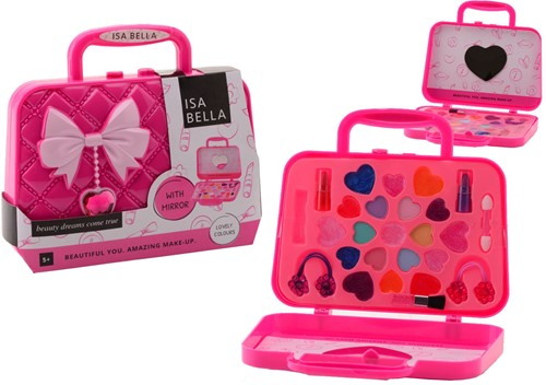 Isabella make-up koffer met spiegel 25-delig