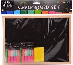 Crea Kids Krijtbord met accessoires 29x21cm