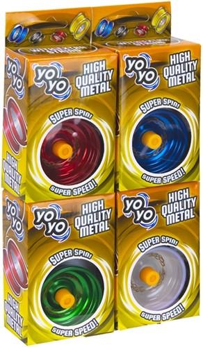 Yoyo Jojo staal in doos incl. extra touwtje 4 assorti