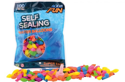 Aqua Fun 100 zelfsluitende waterbommen in zak 17,5x24cm