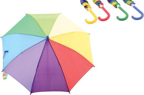 Regenboog Paraplu 4 assorti 54x11x4cm