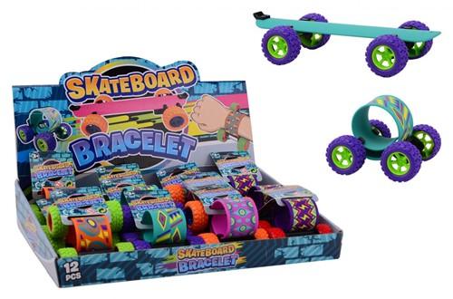 Skateboard armband 4 assorti in display 7x9cm
