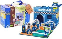 Jouéco® - Houten Politiebureau 13-delig