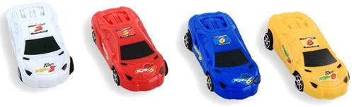 Auto 8,5cm 4 assorti kleur