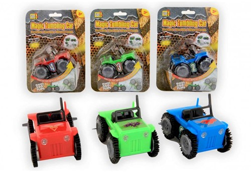 Auto Magic Tumbling Car 10cm (maakt 360° flips) 3 assorti