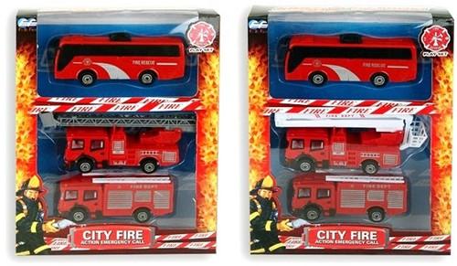 Brandweerset 2 assorti 3-pack 19x25cm
