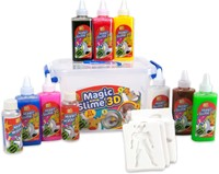 Magic Slime 3D 23 delig 8 Kleuren + 12 Sjablonen