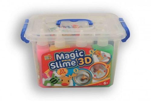 Magic Slime 3D 23 delig 8 Kleuren + 12 Sjablonen-2