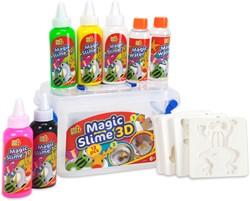 Magic Slime 3D 12 delig 5 Kleuren + 4 Sjablonen