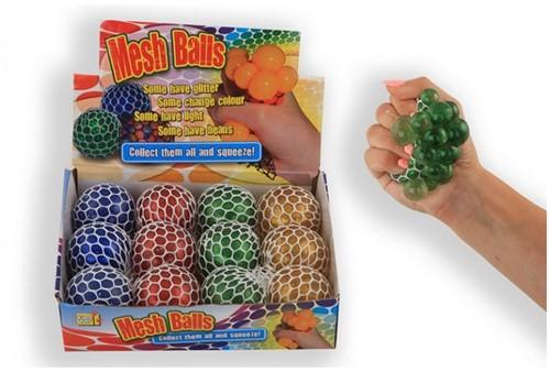Squeezy ball Powder Glitter 6cm 4 assorti 100 gram in display