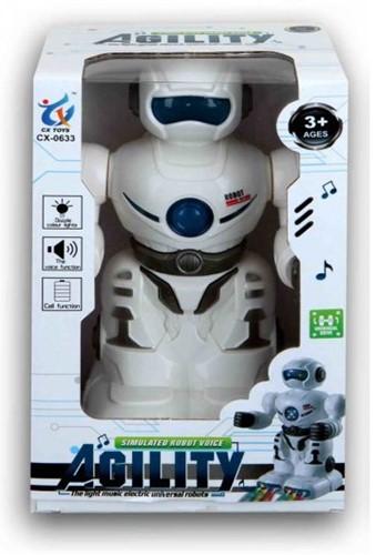 Robot Licht en geluid 12x19cm