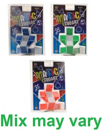 Magic Snake Cube Square 4 assorti 14,5x22cm