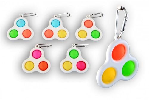 Magic Pop Game Sleutelhanger assorti 7x7cm (3 Pops)