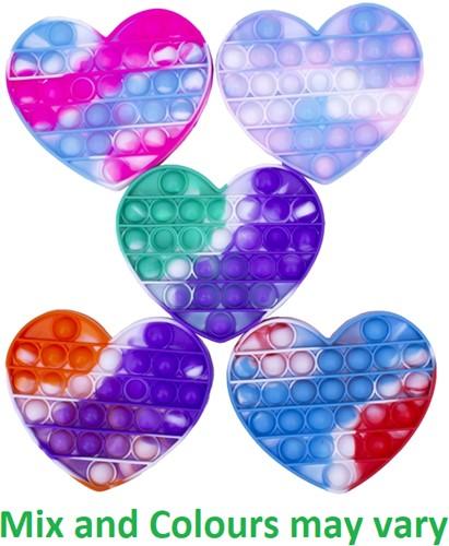Magic Pop Game Tie Dye Heart assorti 11x14x1,5cm