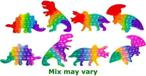 Magic Pop Game Rainbow Dino 3 assorti 20cm