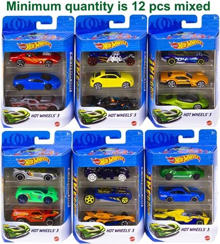 Hotwheels Die-cast voertuigen 3-Pack 11x17cm