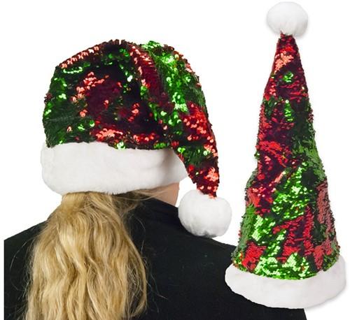 Kerstmuts Glitter Sequin -2