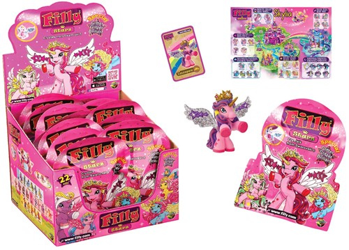 Dracco Filly Stars Collectables in Blindbag 48x in Display, Glitter Edition