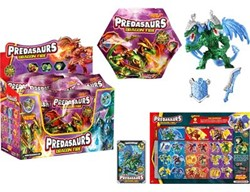 DRACCO Predasaurs Collectables in Blindbag, 24x in Display