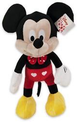 Disney Pluche Mickey Mouse met Hartjes 43cm