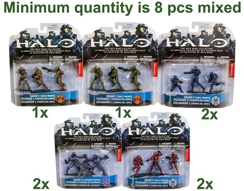 Halo Wars Heroic Collection 3-Pack 5 assorti 11x16cm