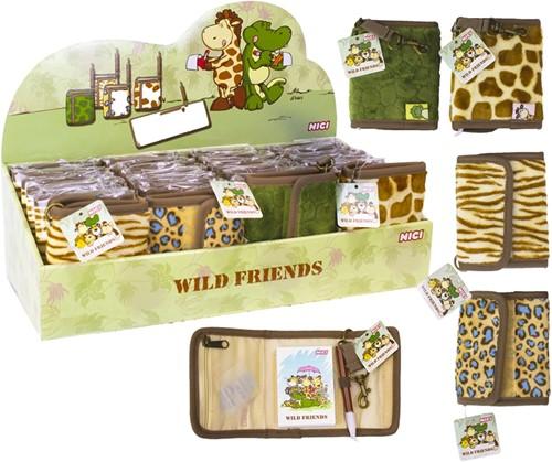 Nici Wild Friends Mini notitieblok met pen assorti in display (24) 8x10cm