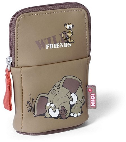 Nici Tasje Wild Friends Olifant Aapje 8x13cm