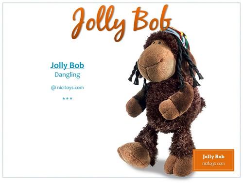 Nici Pluche Schaap Jolly Bob 25cm-2