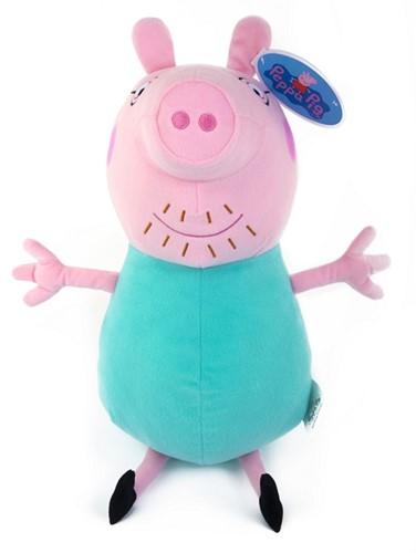 Pluche Peppa Pig Daddy Pig 80cm