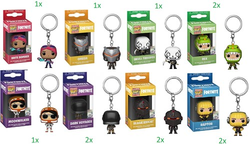 Funko POP! Keychain Fortnite S1 W1A CDU 12