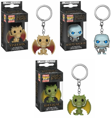 Funko POP! Keychain Game of Thrones S10 CDU 12 3 assorti