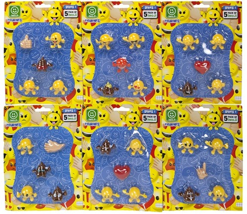 Imoji Figurines 3cm 5-Pack Series 1 17x23cm assorti