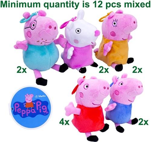 """Peppa Pig Pluche Bagclip """"Coinpurse"""" assorti 14cm"""
