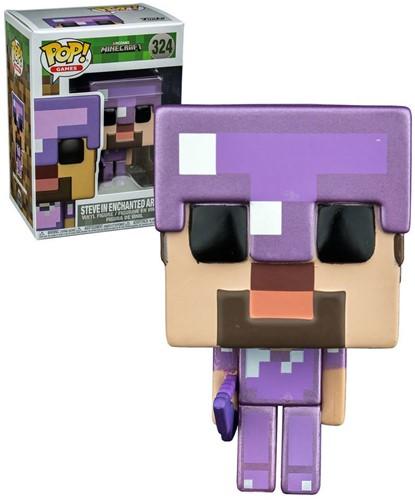 POP! Minecraft Steve W/Enchanted Armour & Crossbow