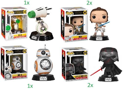 Funko POP! Star Wars The Rise of Skywalker 4 assorti