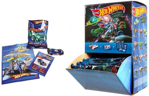 Mattel Hot Wheels Die-Cast voertuigen in Blindbag, Mystery Models in display (24)