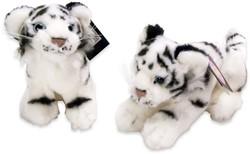 Pluche tijger wit 2 assorti 15cm