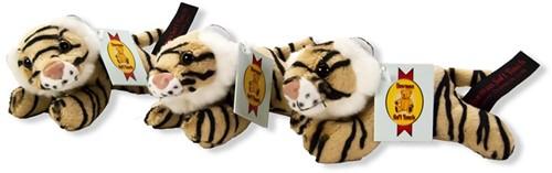 Pluche tijger liggend 13cm