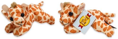Pluche giraffe liggend 13cm
