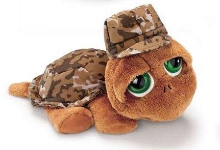 Russ Pluche Schildpad Shelby Camouflage 20cm