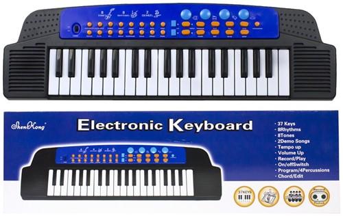 Keyboard met adapter 37 toetsen 19x62cm