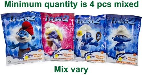 Lucky Bag XL Smurfs 4 assorti 24x33cm