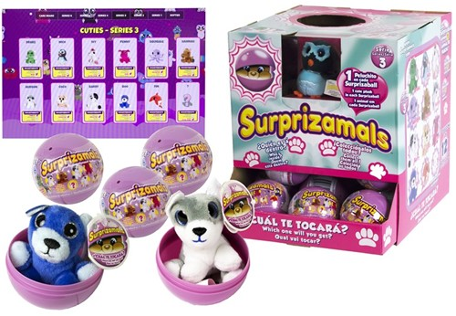 Surprizamals Pluche in capsule assorti in display Series 3