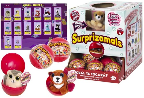Surprizamals Pluche in capsule assorti in display Series 4
